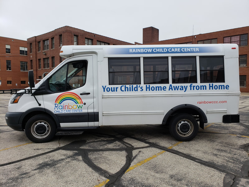Rainbow Child Care Muskego Wisconsin Bus Fleet Vehicle Graphics Installation Decal