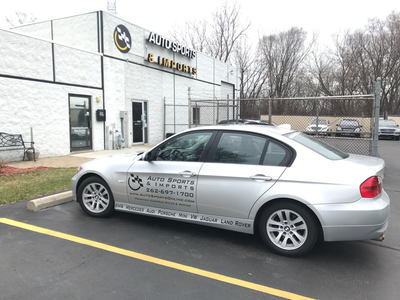Auto Sports & Imports Commercial Car Decal Graphic Vehicle Graphics