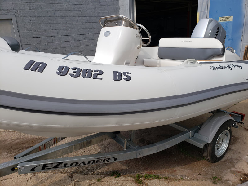 Inflatable Boat Name Kenosha Wisconsin Walker Bay