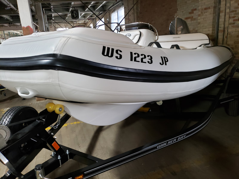Inflatable Boat Name Caledonia Wisconsin Walker Bay