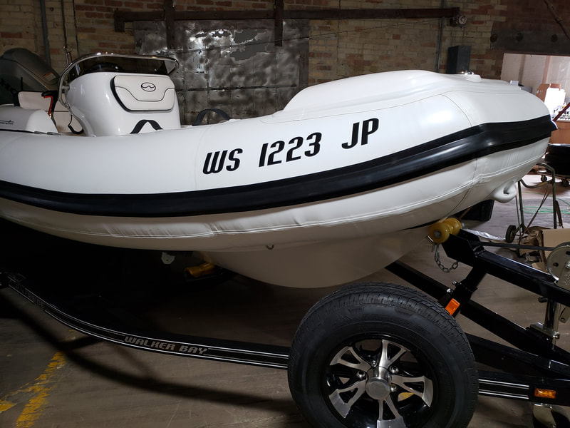Inflatable Boat Name Milwaukee Wisconsin Walker Bay