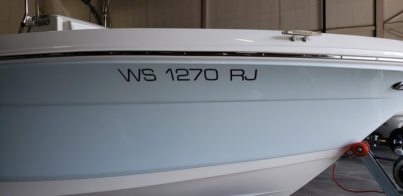 Boat Numbers Registration Decal Letters Robalo Racine Wisconsin