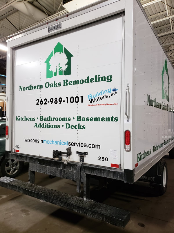 Northern Oaks Remodeling Box Truck Kitchens Bathrooms Basements Decks Decal Graphic Vinyl Racine Wisconsin Fleet