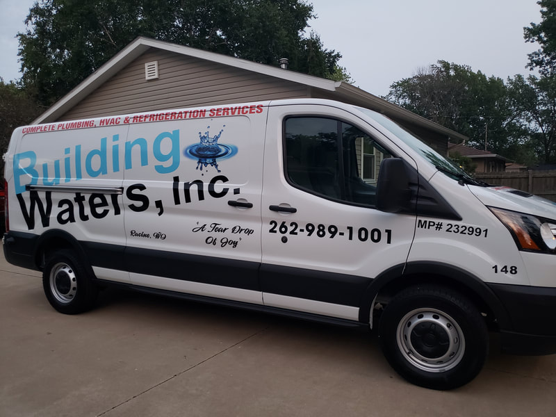 Commercial Van Graphics Decals Sturtevant Wisconsin Plumber HVAC Heating