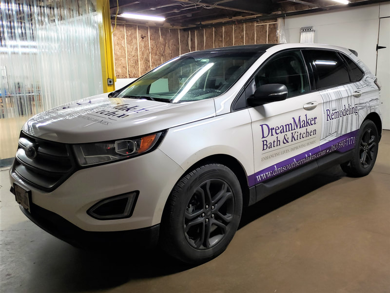 Commercial Vehicle Graphic Decal Wrap Partial Graphics Lettering Racine Kenosha Wisconsin