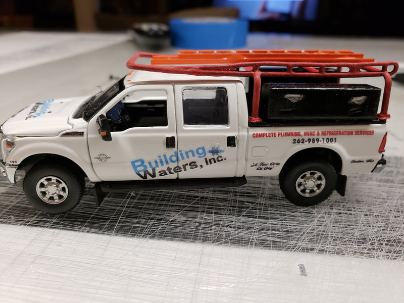 Custom Business Gift Diecast Van Truck Vehicle Vinyl Graphic Racine Kenosha Wisconsin