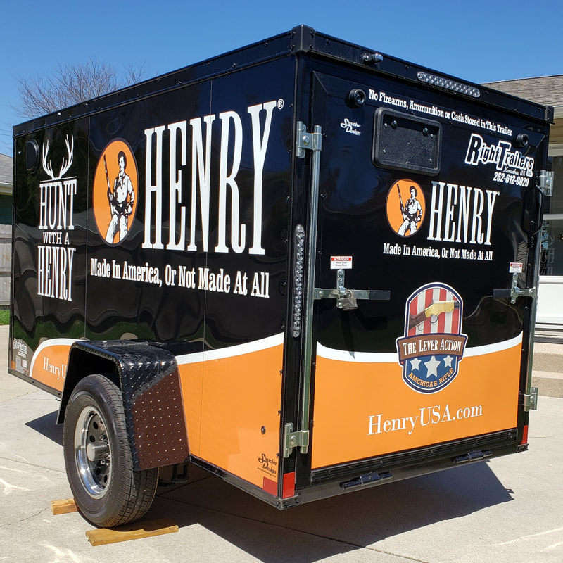 Trailer Graphic Decal Mt Pleasant Franksville Wisconsin Hunt with a Henry