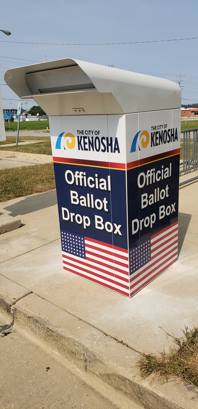 Kenosha Ballot Absentee Drop Box Elections Vinyl Graphic Wrap (2)
