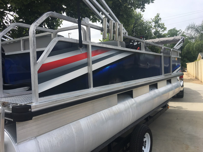 Pontoon Boat Graphic Vinyl Decal Wrap Racine Wisconsin