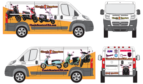 Ram Promaster Business Graphics Decal Wrap