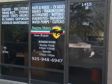 Retail Outdoor Window Decals Sign Clings Racine Kenosha Milwaukee Wisconsin