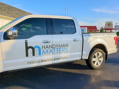 Ford pick up pickup truck Handyman Matters Commercial Decal Graphic Kenosha Southeastern Wisconsin