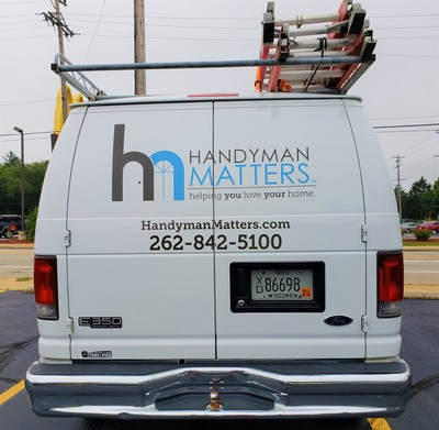 Ford e350 Handyman Matters Commercial Van Decal Graphic Kenosha Southeastern Wisconsin