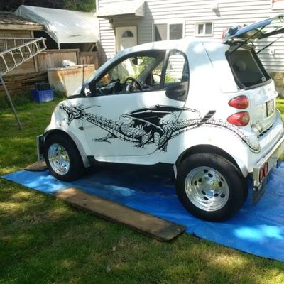 Smart Car Graphic Decal Dragon