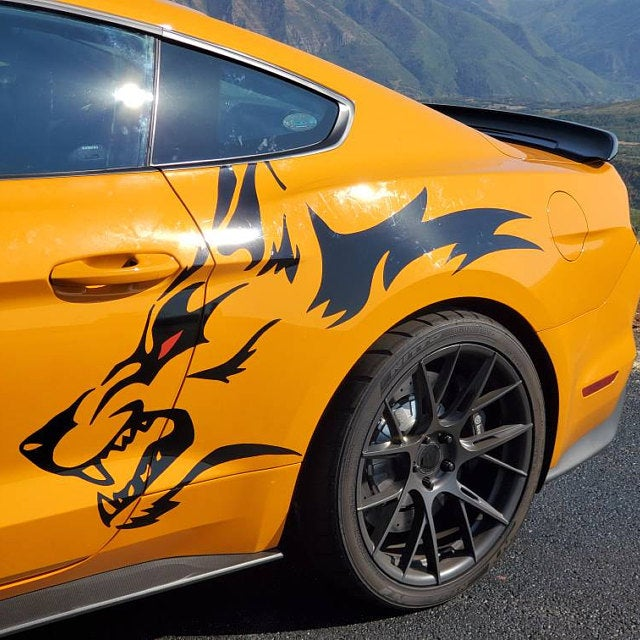 Wolf Coyote Decal Vehicle Graphic Racine Wisconsin Mustang